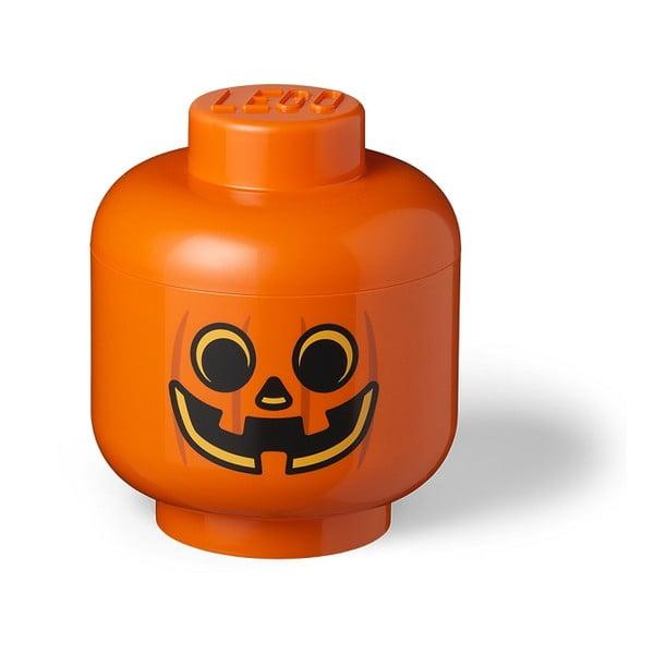Cutie depozitare LEGO® Pumpkin Head L, portocaliu
