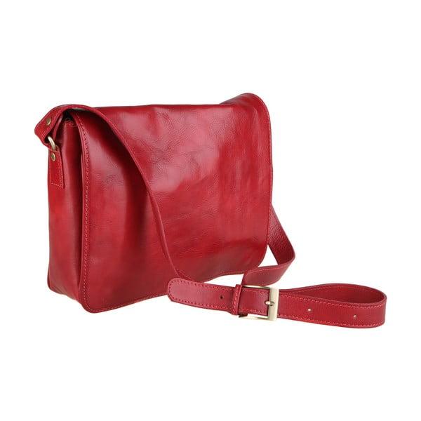 Norma piros bőr válltáska - Chicca Borse