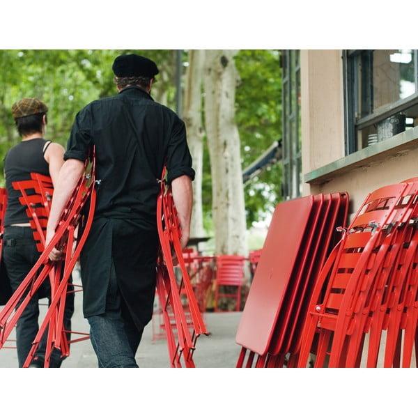 Sada 2 antracitových skládacích židlí Fermob Bistro