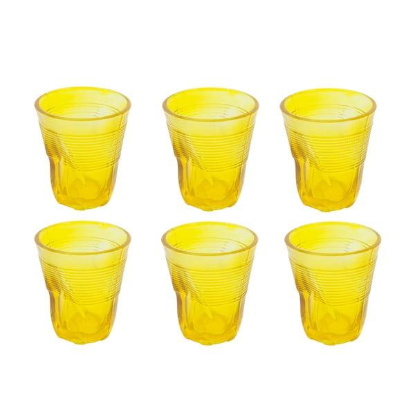 Sada 6 sklenic Kaleidos 225 ml, žlutá