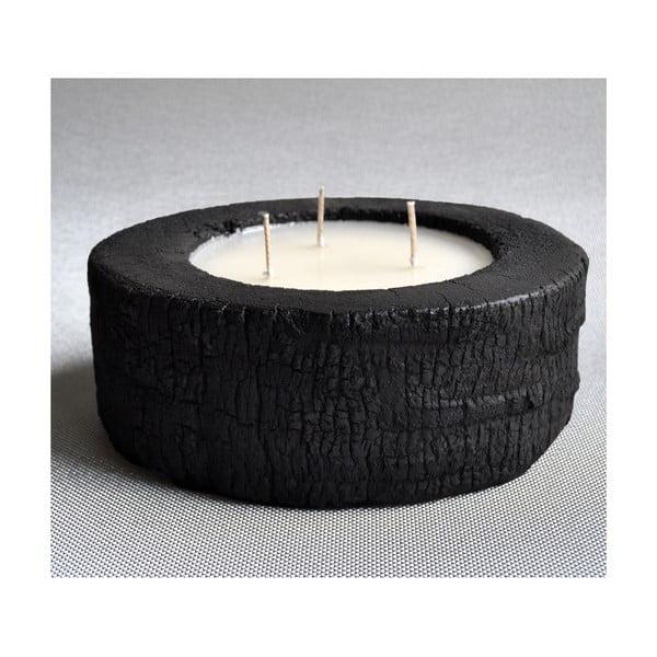Palmová svíčka Legno Dark s vůní vanilky a pačuli, 60 hodin hoření