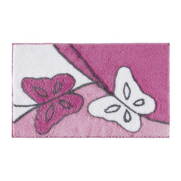 Koupelnová předložka Paselis Fuchsia, 60x100 cm