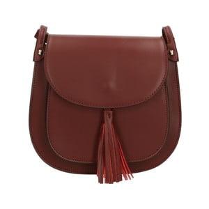 Vínově červená kožená kabelka Roberto Buono Kara