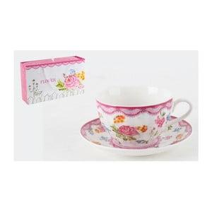 Porcelánová sada hrníčků na čaj v dárkové krabičce, 6 ks