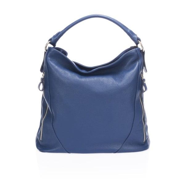 Modrá kožená kabelka Markese Heross