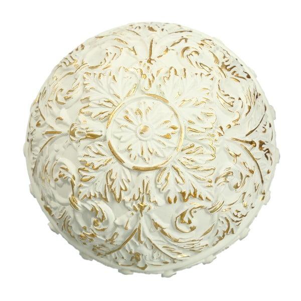 Sada 8 zlatobílých dekorativních koulí Ixia Deco