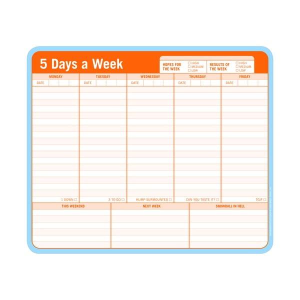 Týdenní úkolníček 5 Days a Week