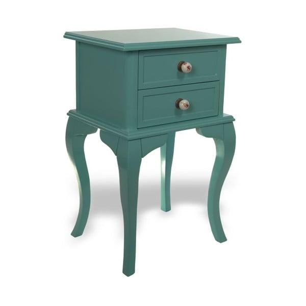 Odkládací stolek Jasmine Turquoise, 44x33x69 cm