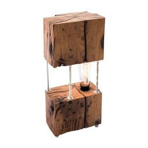 Stolní lampa z rekultivovaného dubového dřeva FLAME furniture Inc. Cube