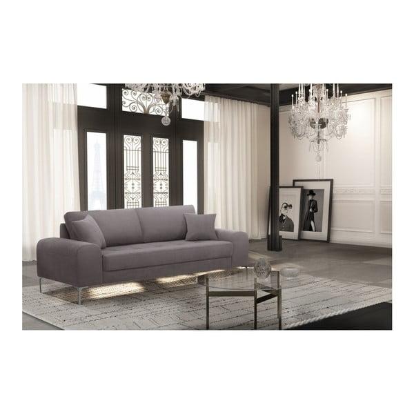 Set canapea maro cu 3 locuri, 4 scaune gri antracit, o saltea 160 x 200 cm Home Essentials