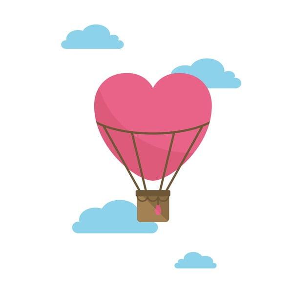 Samolepka na stěnu Love Baloon