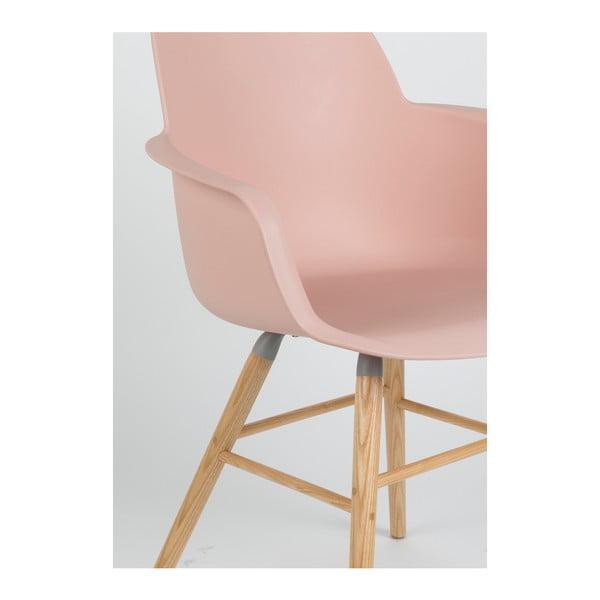 Set 2 scaune cu cotiere Zuiver Albert Kuip, roz