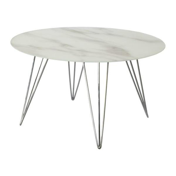 Mramorový odkládací stolek s podnožím v dekoru chromu RGE Sevilla