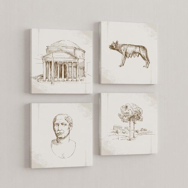 Sada 4 obrazů Řím
