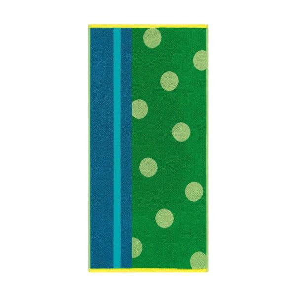 Ručník Punkte Grass Green, 70x140 cm