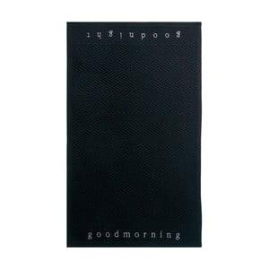 Koupelnová předložka Good Morning Black, 60x100 cm