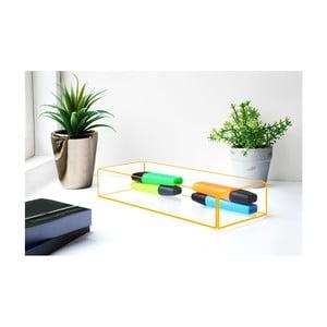 Úložný box s oranžovými hranami Lund London Flash Tidy, 27x10cm