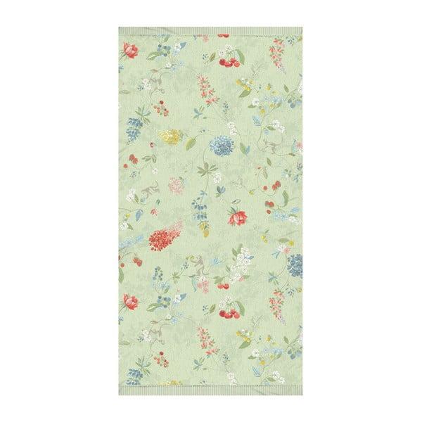 Zelený ručník Pip Studio Hummingbirds, 55x100cm