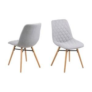 Set 2 scaune Actona Lif, gri deschis