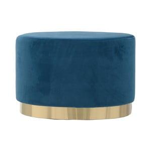 Modrá oválná stolička se sametovým potahem InArt Ivii