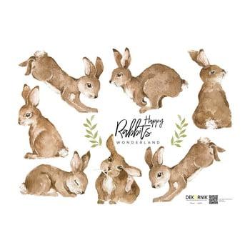 Autocolant pentru perete Dekornik Happy Rabbits Wonderland imagine