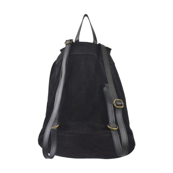 Černý kožený batoh Chicca Borse Georgia