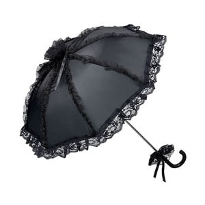 Černý holový deštník Von Lilienfeld Bridal Malisa
