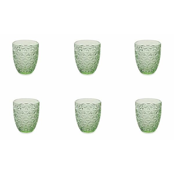 Sada 6 zelených sklenic Villad'Este Gemma