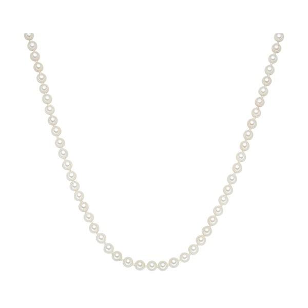 Náhrdelník s bílými perlami ⌀6 mm Perldesse Muschel, délka 80 cm