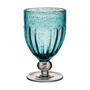 Pahar din sticlă cu picior Côté Table Saba, albastru