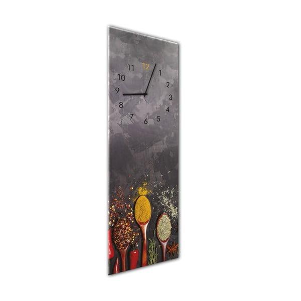 Glassclock Spoons falióra, 20 x 60 cm - Styler