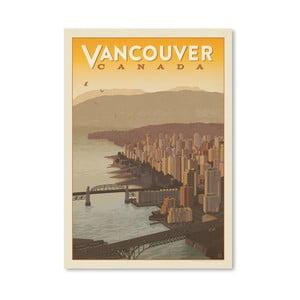 Plakát Americanflat Vancouver Skyline, 42 x 30 cm