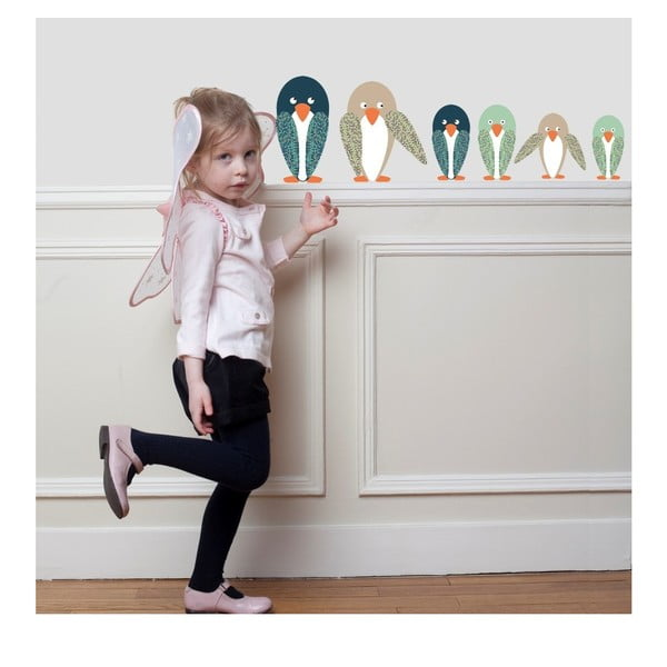 Nástěnné samolepky Art For Kids Penguin Family