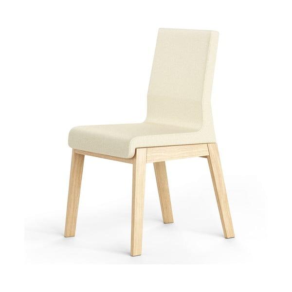 Bílá židle z dubového dřeva Absynth Kyla