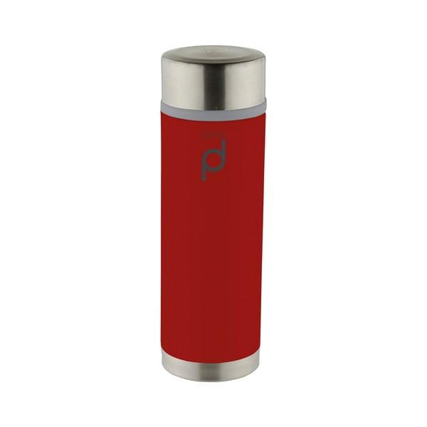 Červená vakuová termoska z nerezové oceli Pioneer Drink Pod, 350 ml