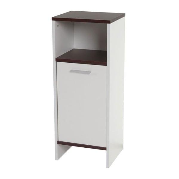 Koupelnová skříňka Sonoma White/Brown, 28x32x82 cm