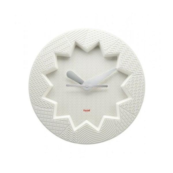 Bílé hodiny Kartell Crystal Palace