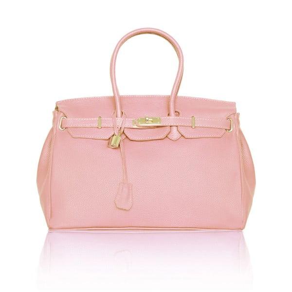 Kožená kabelka Emdo, světle růžová