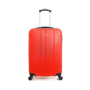 Červený cestovní kufr na kolečkách Hero Fogo, 60 l