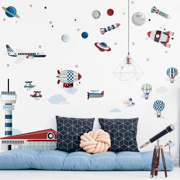 Set nástěnných samolepek Dekornik Life in the Sky