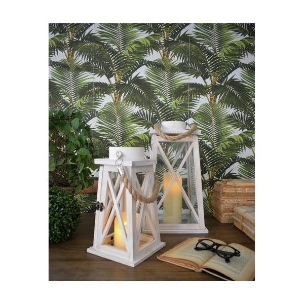 Zestaw 2 białych lampionów Orchidea Milano Old