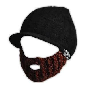 Dětská čepice s odepínatelným plnovousem Beardo, černá/hnědá