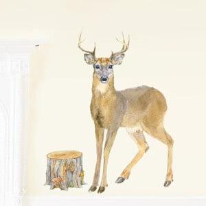 Znovu snímatelná samolepka Deer, 80x46 cm