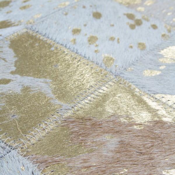Kožený koberec Eclipse Gold, 80x150 cm