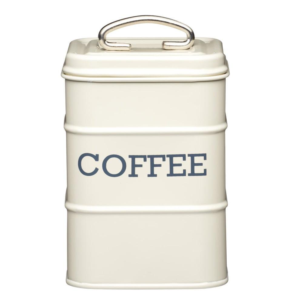 Plechová dóza Kitchen Craft Coffee, krémová