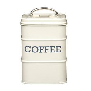 Krémová plechová dóza na kávu Kitchen Craft Nostalgia