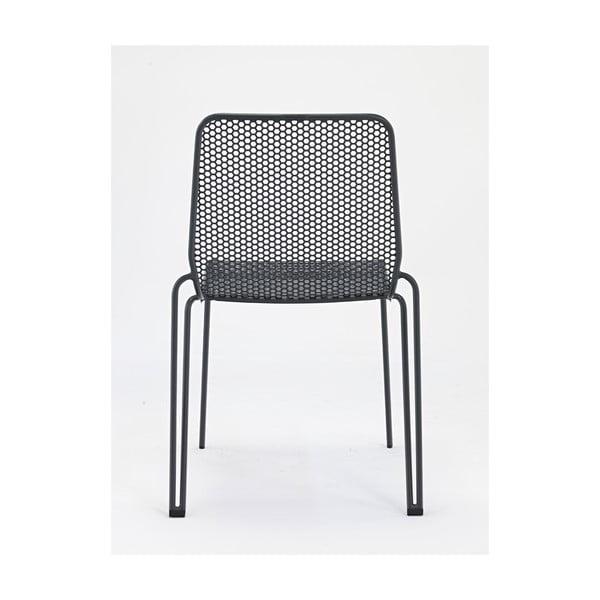 Sada 4 šedých zahradních židlí Ezeis Ambroise