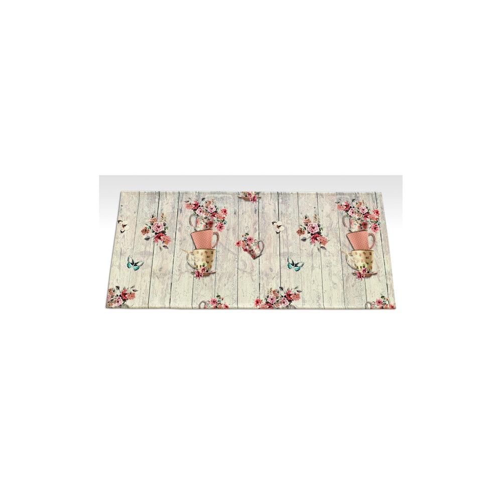 Vysoce odolný kuchyňský běhoun Floorita French Garden, 60 x 240 cm