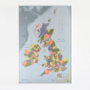 Magnetická mapa Britských ostrovů The Future Mapping Company British, 100x70cm