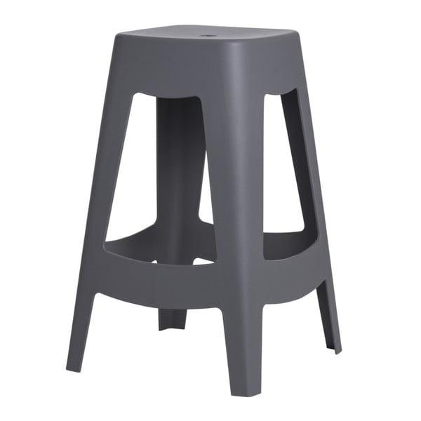 Sada 2 šedých barových židlí D2 Tower